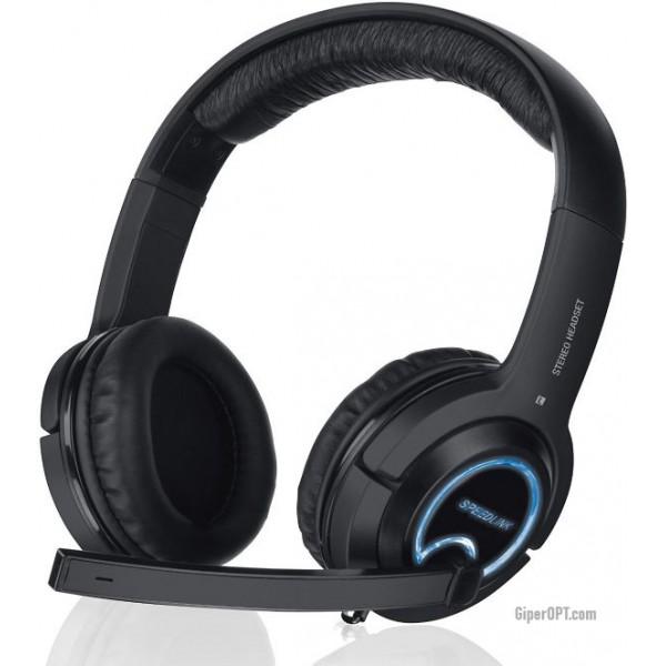 Легкие, проводные геймерские наушники с подсветкой, микрофоном, пультом для PS3, Xbox 360 или ПК SPEEDLINK Xanthos Stereo SL-4475-BK