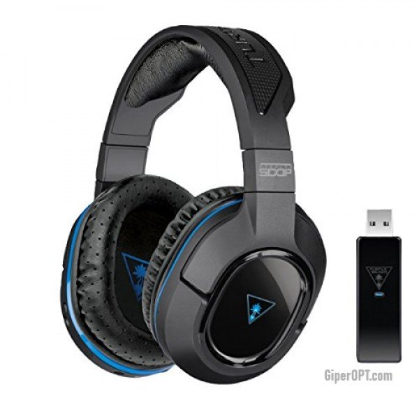 Wireless headset, full-size Bluetooth headphones with Turtle Beach Stealth 500P PS4 / PS3 Microphone TBS-3270-02