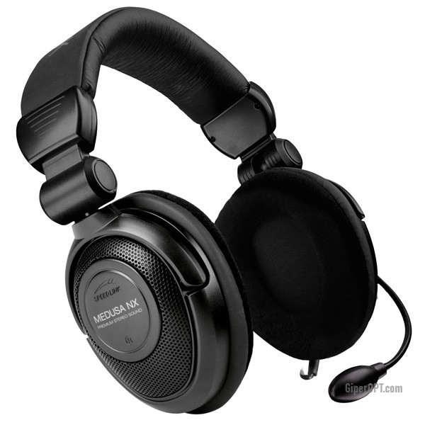 Gaming headphones with surround sound, remote control, gaming headset with microphone, noise-canceling SPEEDLINK MEDUSA NX 5.1 Surround Headset Black (SL-8793-SBK-02)