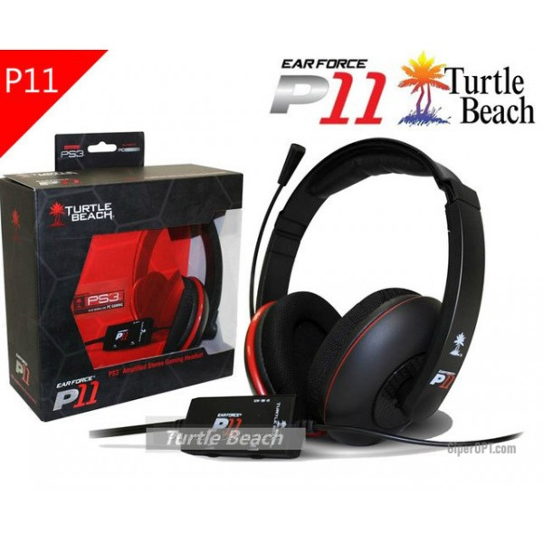 Headset for game console, headphones, wire overhead, half-open with remote control Turtle Beach Ear Force P11
