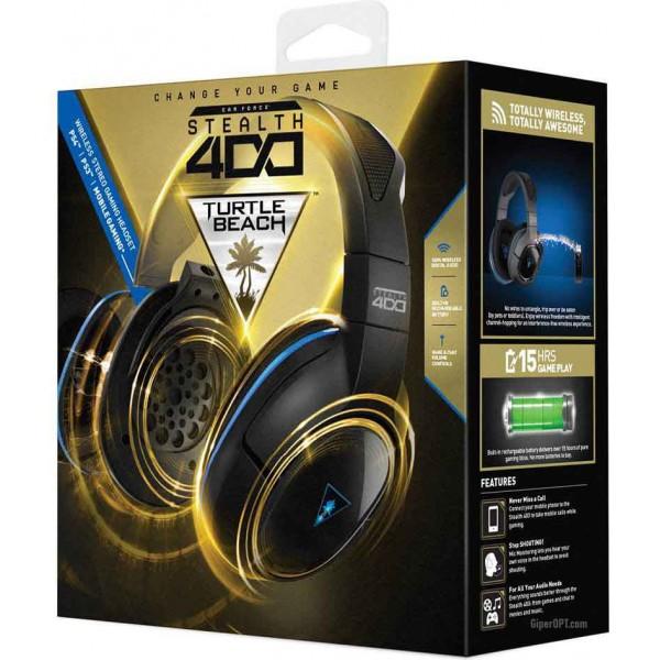 Гарнитура, легкие беспроводные наушники полноразмерные с микрофоном USB Turtle Beach TBS-3240-02 Stealth400 для PS3 и PS4 и мобильных устройств