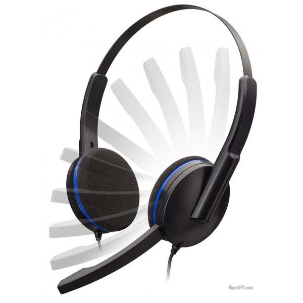 Проводные, геймерские, накладные наушники, игровая гарнитура с микрофоном BigBen Play PS4 ПК