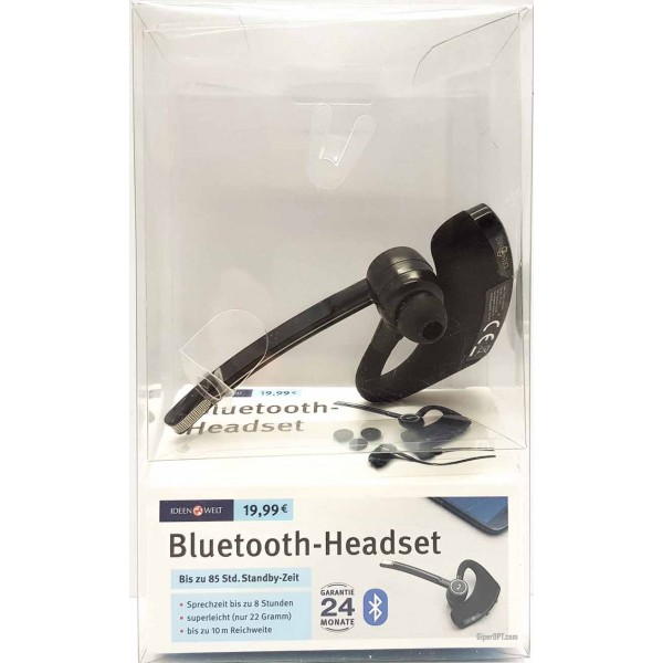 Bluetooth headset, wireless headset Ideenwelt NF1000, black