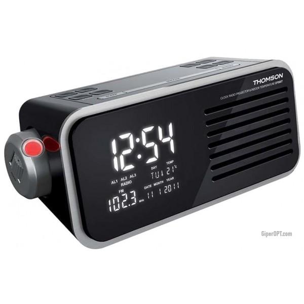 German desktop digital projection clock with radio alarm calendar MP3 Thomson CP300T