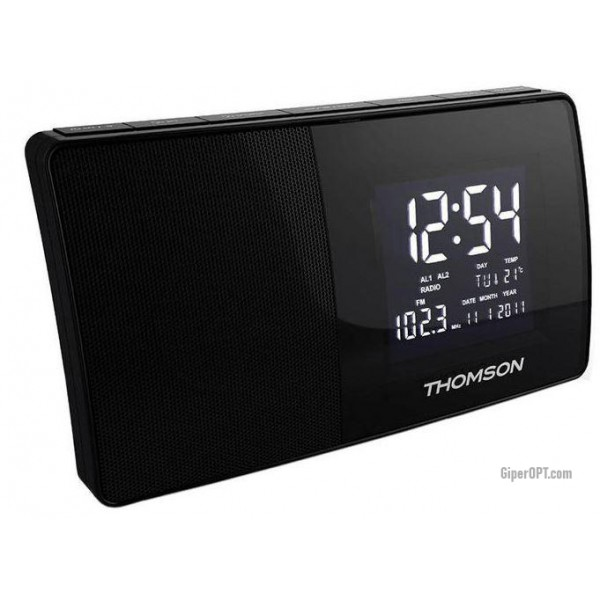 Desktop digital radio clock with alarm clock, thermometer, calendar THOMSON CT254