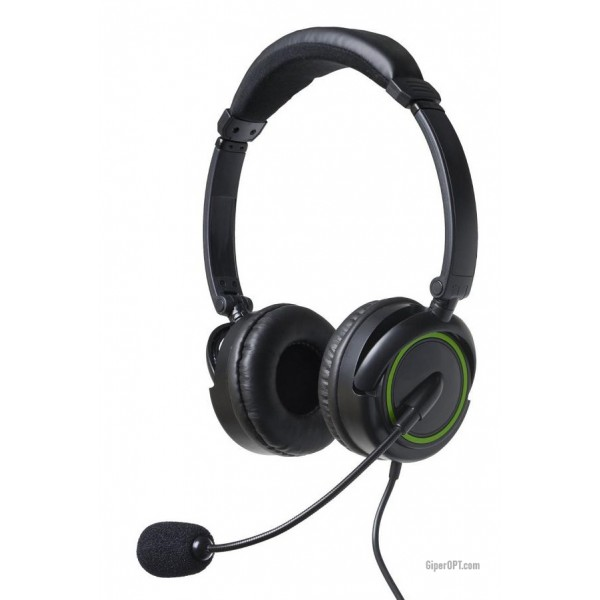 Cheap, wired, closed headphones, gaming headset with microphone BigBen XHS01 for PC, PS3, Skype, Xbox 360