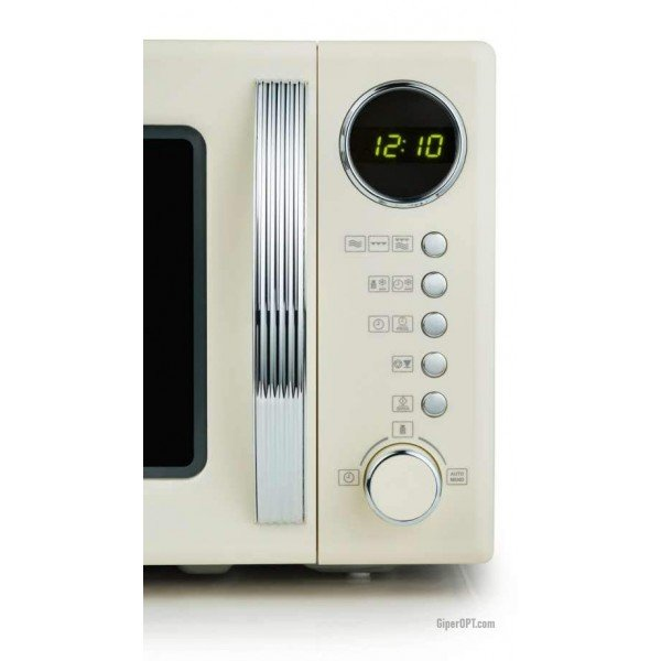 Retro microwave with grill function 2 in 1 Severin MW 7892 beige, 700 W, 20 l
