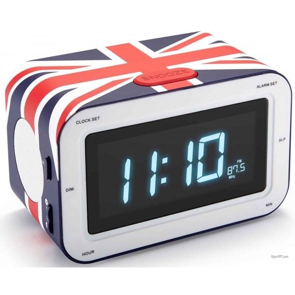 Bigben RR30GB desk clock with radio and alarm clock