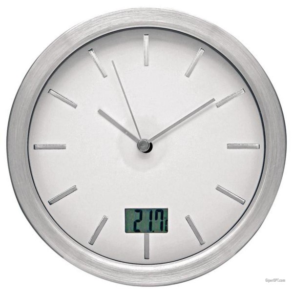 Wall clock with a thermometer for the bathroom Ideen welt wl002