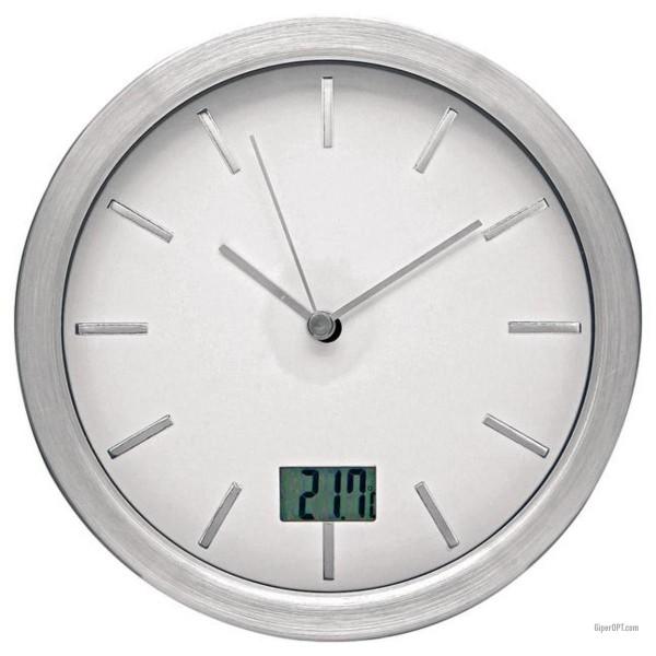 Настенные часы с термометром для ванной Ideen welt wl002