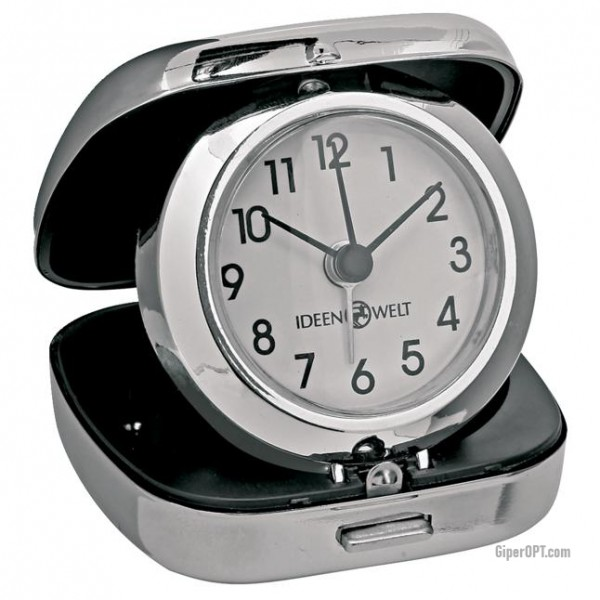 Desktop quartz clock alarm clock in the case ideen welt