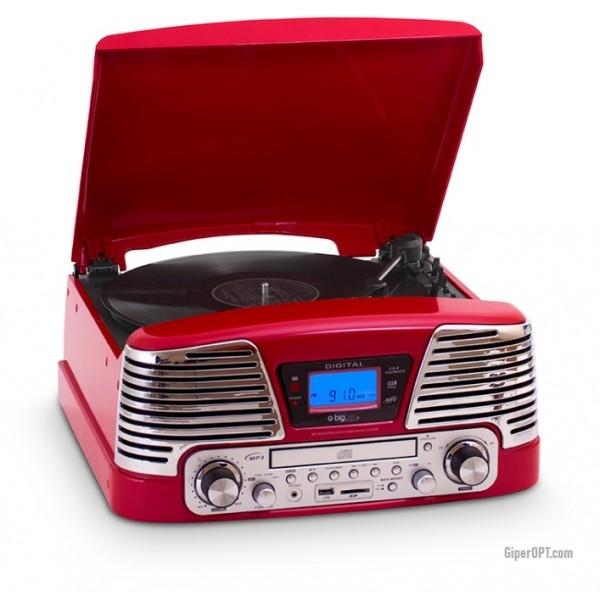 Винтажный музыкальный центр для прослушивания музыки, проигрыватель Bigben TD79RM