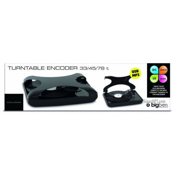 Интегрированный проигрыватель виниловых пластинок Bigben Interactive TD99N