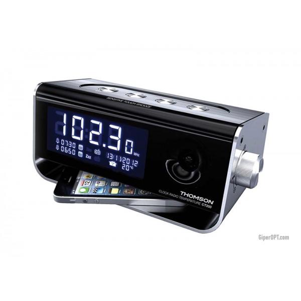 Thieson CP350 Desktop Designer Radio Clock Alarm Clock FM FM USB Receiver