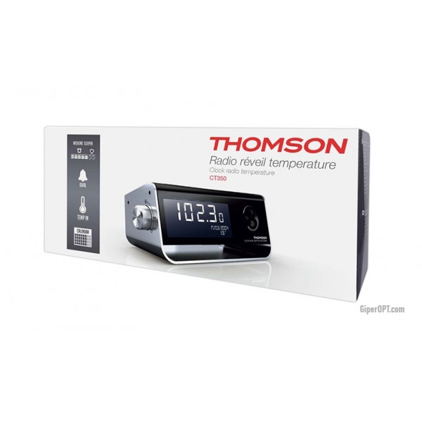 Thomson CP350 Desktop Designer Radio Clock Alarm Clock FM FM USB Receiver