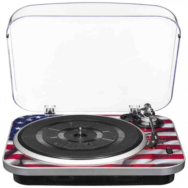 Vinyl record player Bigben TD120USA Retro Vinyl Music Center