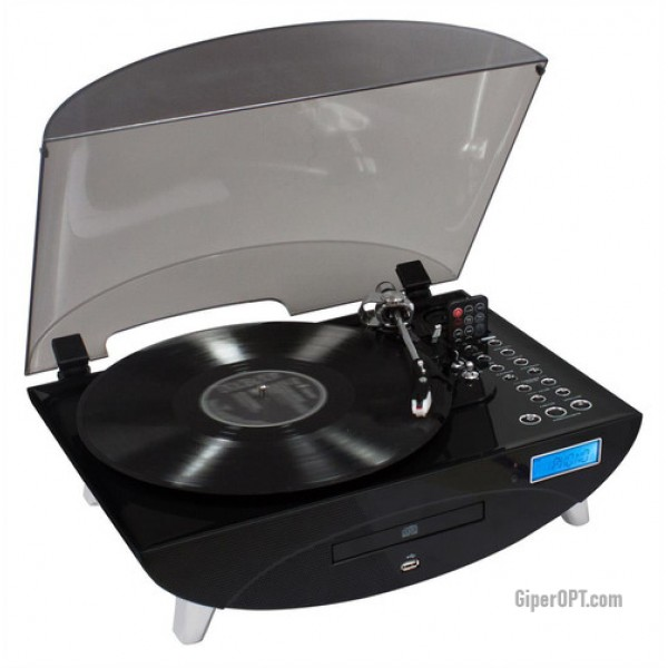 Contemporary vinyl record player THOMSON TT400CD CD USB