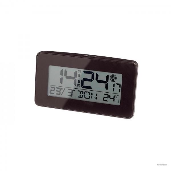 Настольные цифровые черные часы будильник термометр Ideenwelt