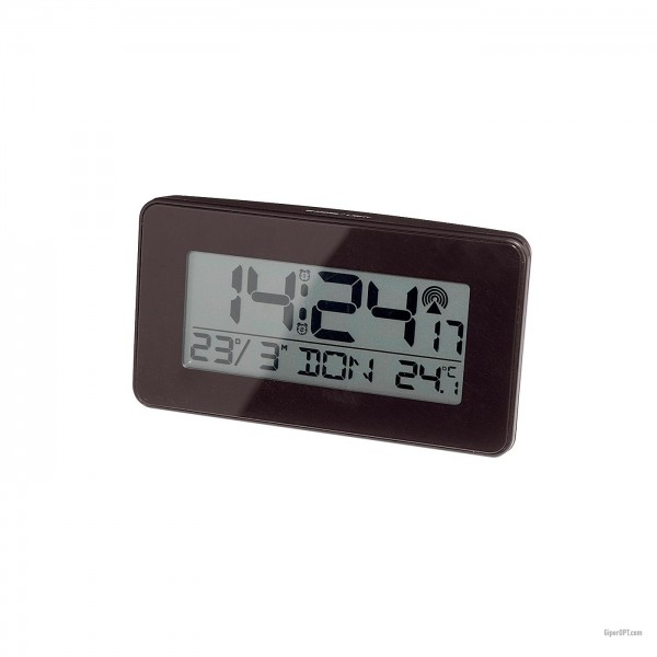 Desktop Digital Black Clock Alarm Thermometer Ideenwelt