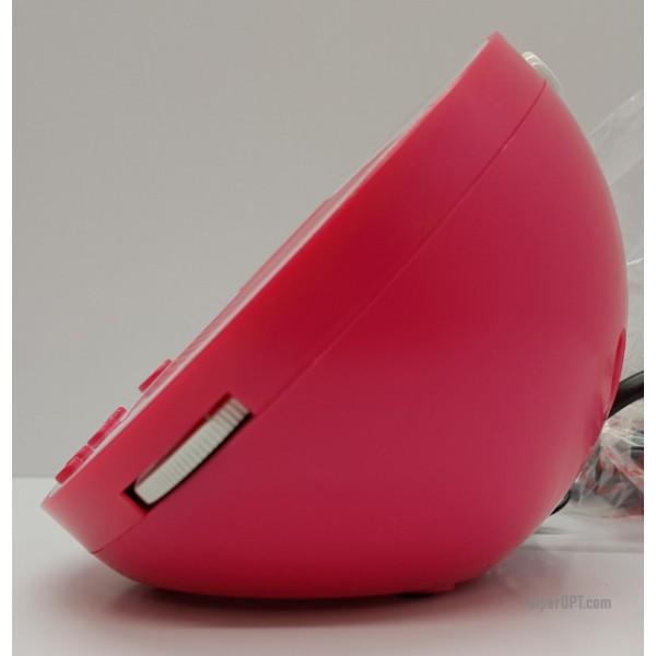 Desktop Electronic Pink Radio Alarm Clock BigBen RR08RS