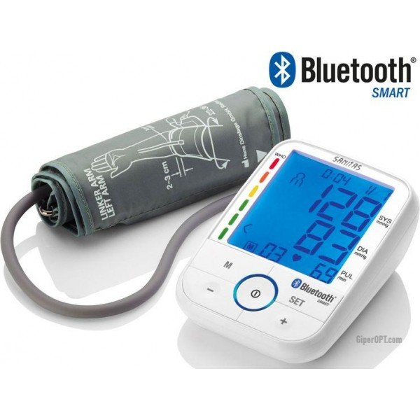 Tonometer automatic on the shoulder Sanitas SBM 67 with data transmission via Bluetooth, Smart, GERMANY