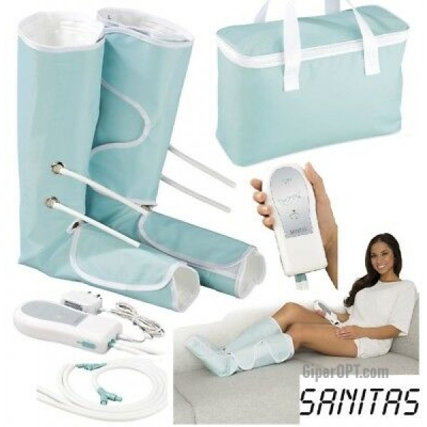 The exercise machine, a masseur for veins, legs lymphatic, compression massage of veins Sanitas SFM 90, Germany