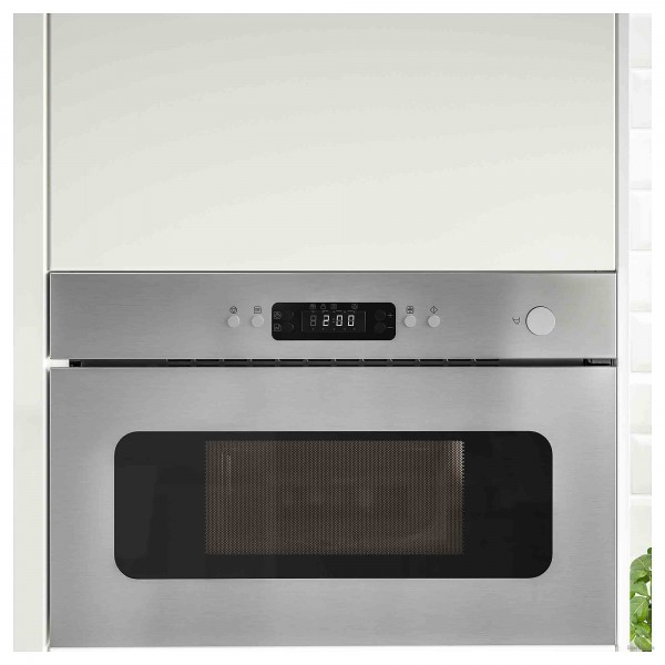 Built-in microwave IKEA 603.687.69, stainless steel, convection, 22l