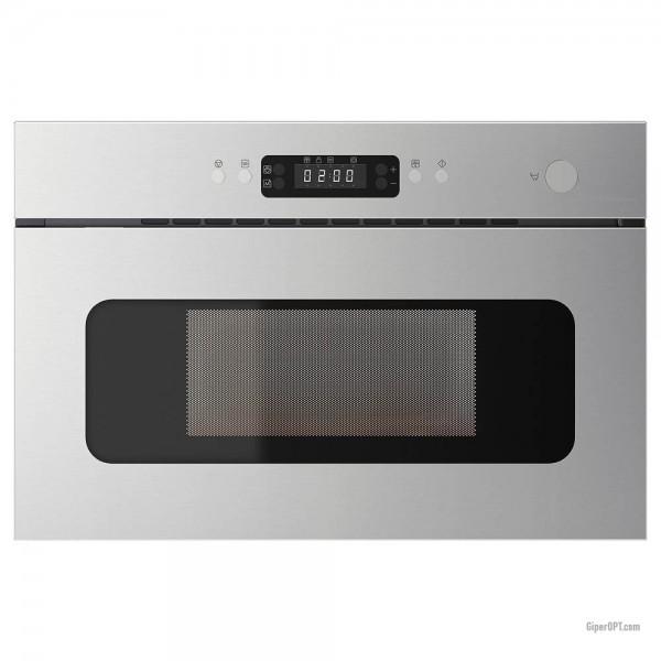 Встраиваемая микроволновая печь IKEA 603.687.69, нержавеющая сталь, конвекция, 22л