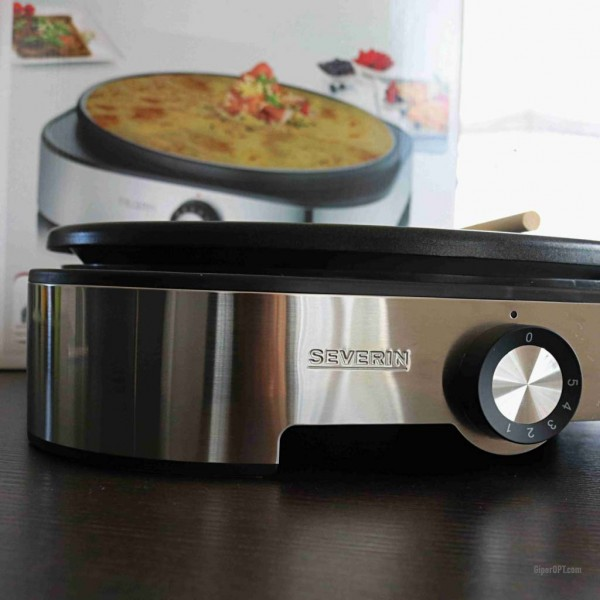 Crepe maker electric + molds Severin CM 9469, stainless steel, Germany