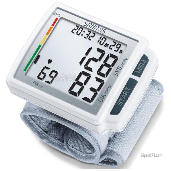Automatic blood pressure monitor on the wrist Sanitas SBC 41