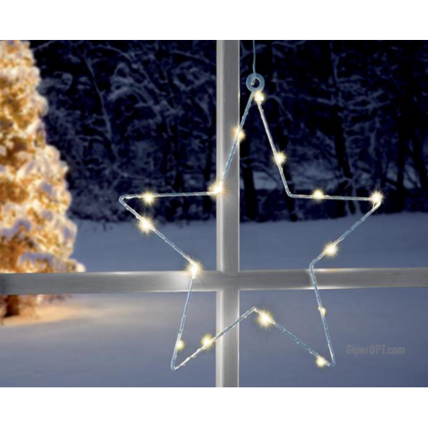 LED Christmas star LED suction cup on window Ideenwelt