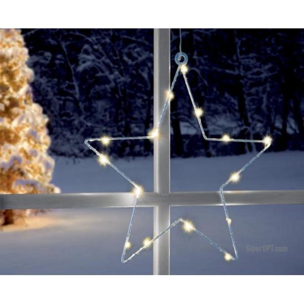 Светодиодная рождественская звезда LED на присоске на окно Ideenwelt