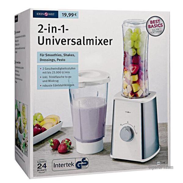 Universal blender stationary Rossmann Ideenwelt 2-in-1 BL-05E 300 W