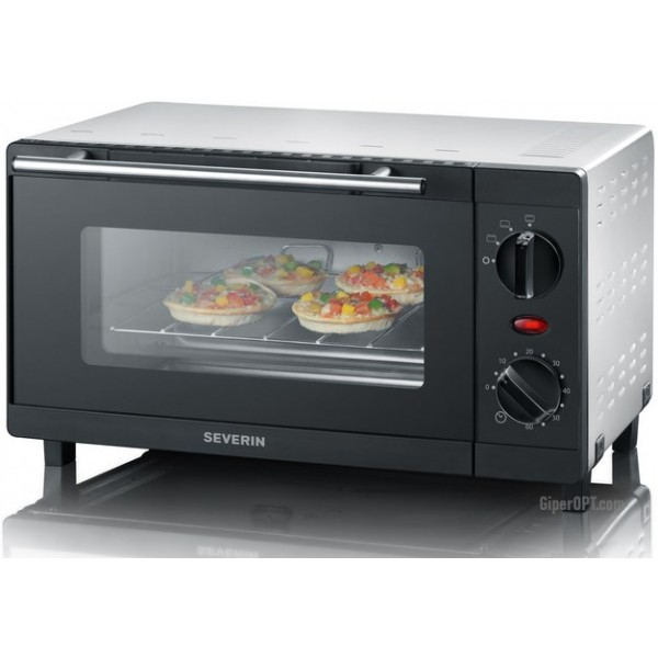 Desktop mini-electric oven, mini-oven, electric oven for 9l Severin TO 2052, 800 W
