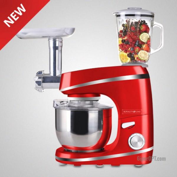 Food processor, kitchen machine, dough mixer, meat grinder, mixer, Royalty Line PKM-1600BG 1600W blender
