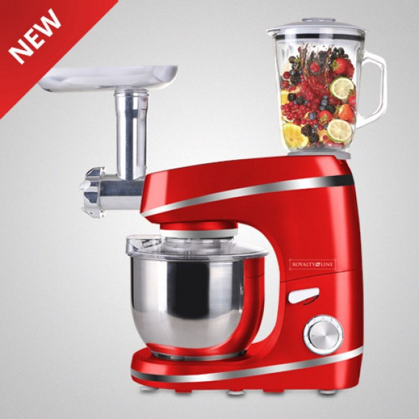 Food processor, kitchen machine, dough mixer, meat grinder, mixer, Royalty Line PKM-1600BG 1600W blender