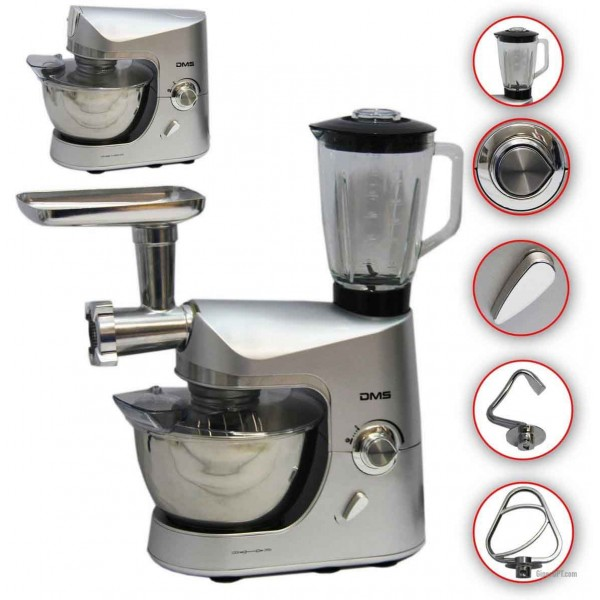 Kitchen combine, kitchen machine, dough mixer, meat grinder, mixer, DMS KMFB-1800 blender
