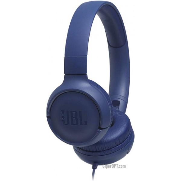 Наушники проводные JBL T500 синие