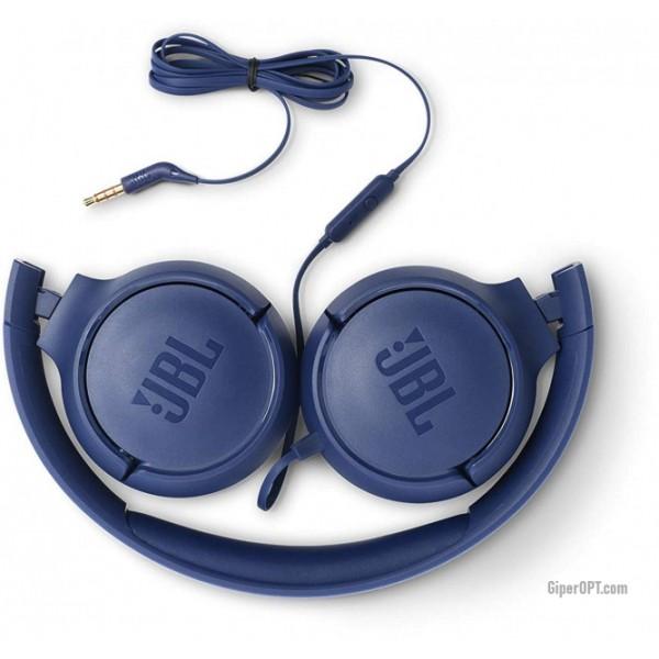 Earphones wire JBL T500 blue