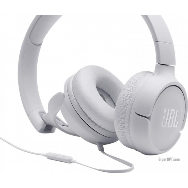 Earphones wire JBL T500 White
