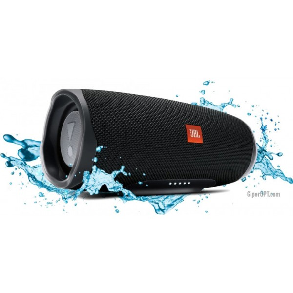 Acoustic system, Bluetooth speaker JBL Charge 4 Midnight Black (JBLCHARGE4BLK)