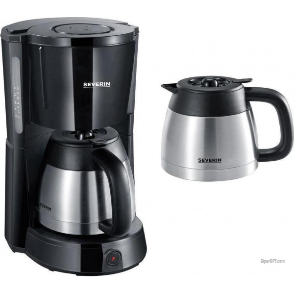 The drop Severin KA 9641 coffee machine with two thermostats from stainless steel