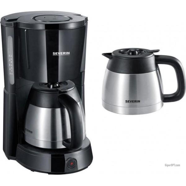 Капельная кофемашина Severin KA 9641 с двумя термостатами из нержавеющей стали