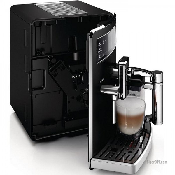 Used Philips Saeco Xelsis Evo Class HD8943 / 19 supermarket automatic coffee machine, black