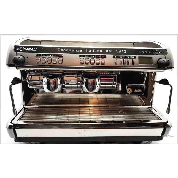 Professional supermarket automatic coffee machine used La Cimbali M39 Dosatron 2 posts