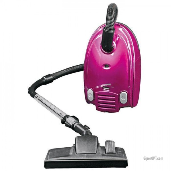 Bag vacuum cleaner for dry cleaning with HEPA Kalorik TKG VC 1011RR filter, pink