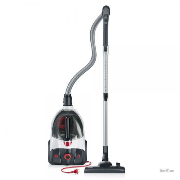 High-speed bagless vacuum cleaner, dry cleaning cyclone, gray Severin CY 7086, 750 W