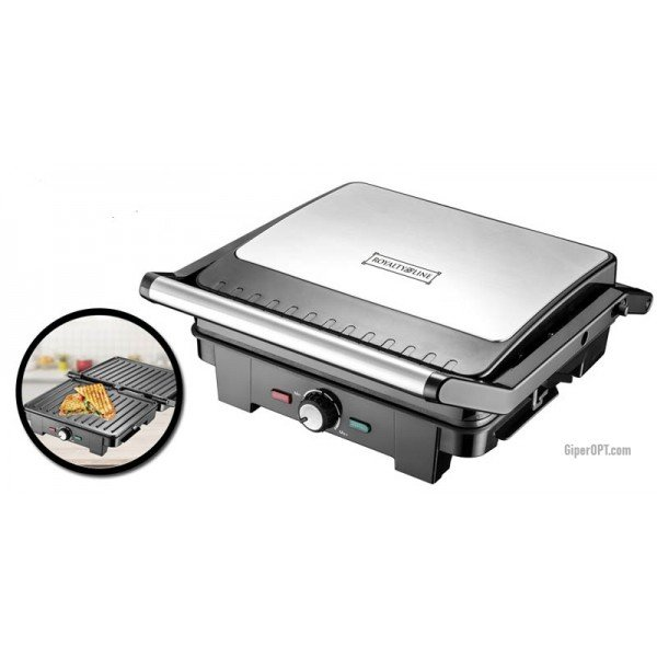 Electric grill presser, double-sided grill, corrugated with non-stick coating ROYALTY LINE PME-2200.417.1 2000 W