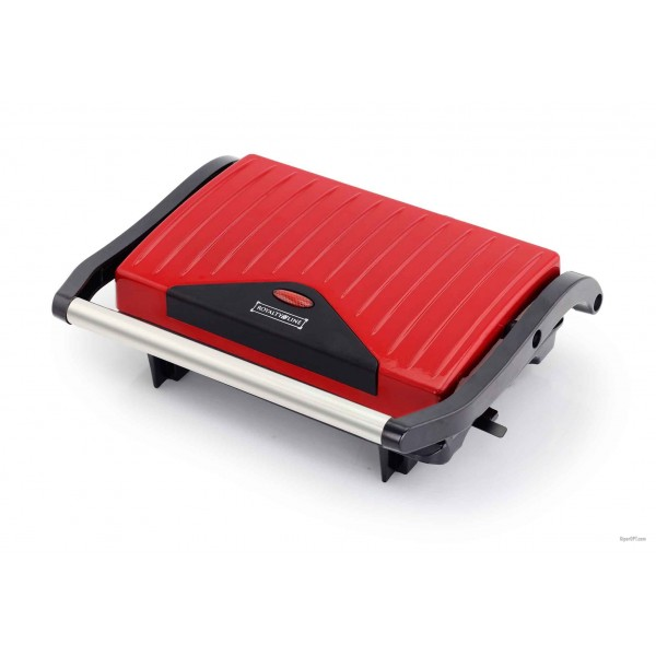 Clamping grill desktop, electric with corrugated non-stick coating Royalty Line PM-750.417.1 750 W