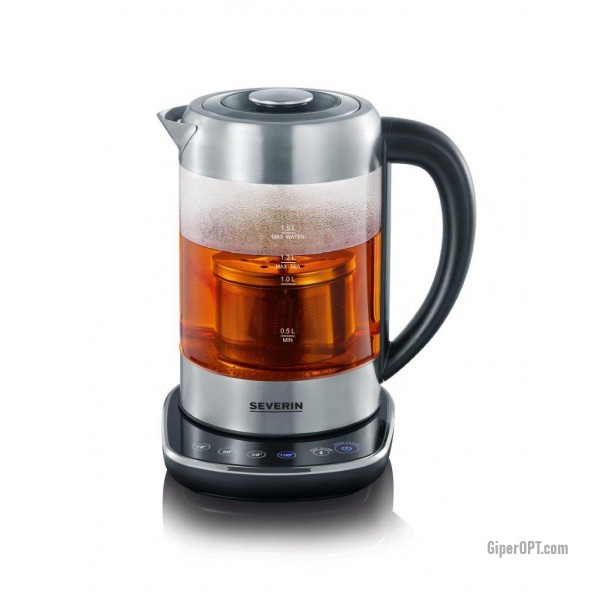 Electric kettle sklo z temperature control і tea pot Severin Wk 3471 Silver